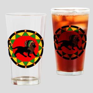 Jah King Rasta Lion Drinking Glass