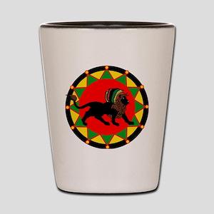Jah King Rasta Lion Shot Glass