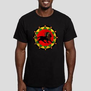 Jah King Rasta Lion Men's Fitted T-Shirt (dark)