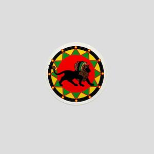 Jah King Rasta Lion Mini Button