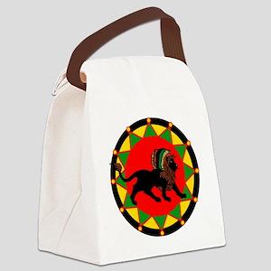 Jah King Rasta Lion Canvas Lunch Bag