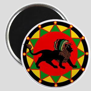 Jah King Rasta Lion Magnet