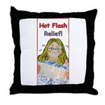 Hot Flash Ice Tub Throw Pillow