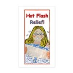 Hot Flash Ice Tub Rectangle Sticker