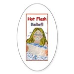 Hot Flash Ice Tub Oval Sticker