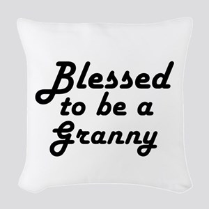 Blessed Granny Woven Throw Pillow