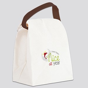 I Have Been Nice All Year Canvas Lunch Bag