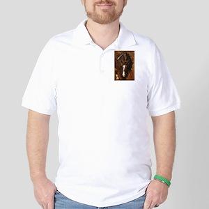 Beautiful Chestnut Horse Golf Shirt