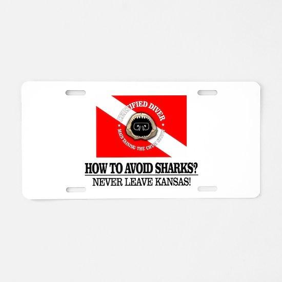 How To Avoid Sharks Aluminum License Plate