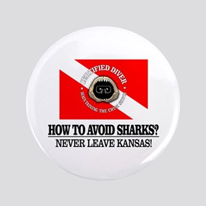"""How To Avoid Sharks 3.5"""" Button"""