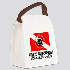 How To Avoid Sharks Canvas Lunch Bag