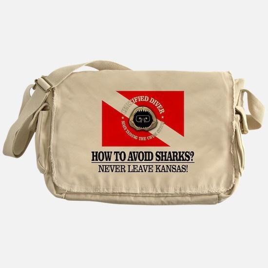 How To Avoid Sharks Messenger Bag