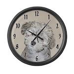 Havanese Puppy Large Wall Clock