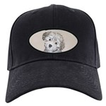 Havanese Puppy Black Cap with Patch