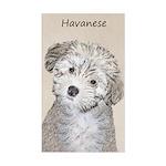 Havanese Puppy Sticker (Rectangle)