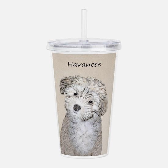 Havanese Puppy Acrylic Double-wall Tumbler