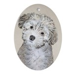 Havanese Puppy Oval Ornament