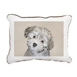 Havanese Puppy Rectangular Canvas Pillow