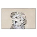 Havanese Puppy Sticker (Rectangle 10 pk)