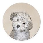 Havanese Puppy Round Car Magnet