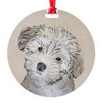 Havanese Puppy Round Ornament