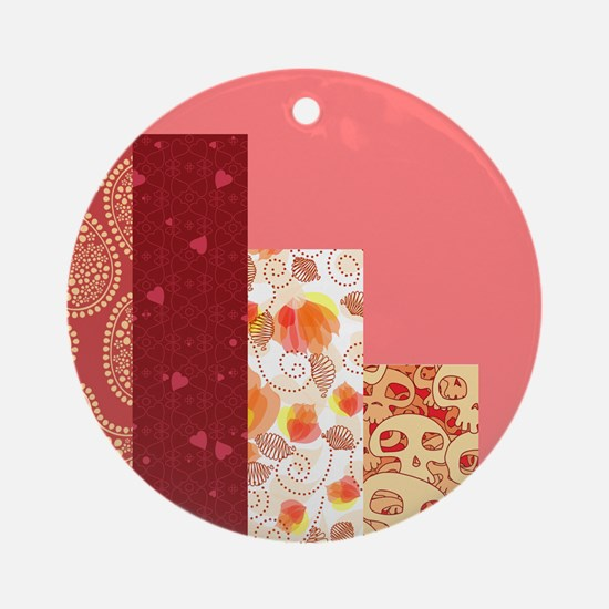 RED & SALMON Ornament (Round)
