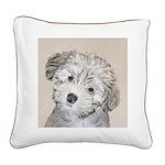 Havanese Puppy Square Canvas Pillow