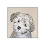 Havanese Puppy Square Sticker 3