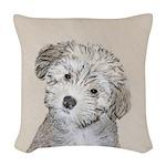 Havanese Puppy Woven Throw Pillow