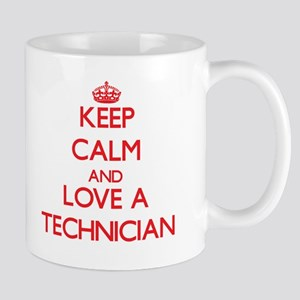 Keep Calm and Love a Technician Mugs