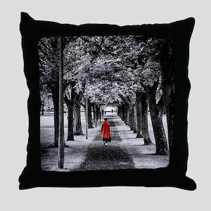 Red Coat Throw Pillow