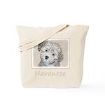 Havanese Puppy Tote Bag