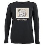 Havanese Puppy Plus Size Long Sleeve Tee