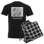 Havanese Puppy Men's Dark Pajamas