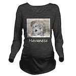 Havanese Puppy Long Sleeve Maternity T-Shirt