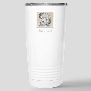 Havanese Puppy 16 oz Stainless Steel Travel Mug