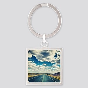 Road Trip Square Keychain