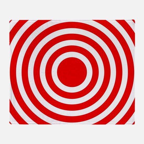 Red Bullseye Throw Blanket