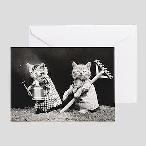 Kittens At Work Greeting Card