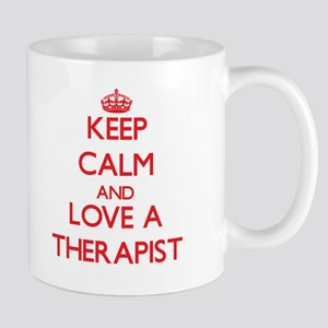 Keep Calm and Love a Therapist Mugs