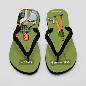 Good Morning, Scooter Girl, Vintage, Flip Flops