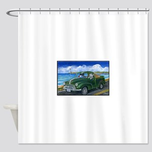 Luna's Highway Adventure Shower Curtain