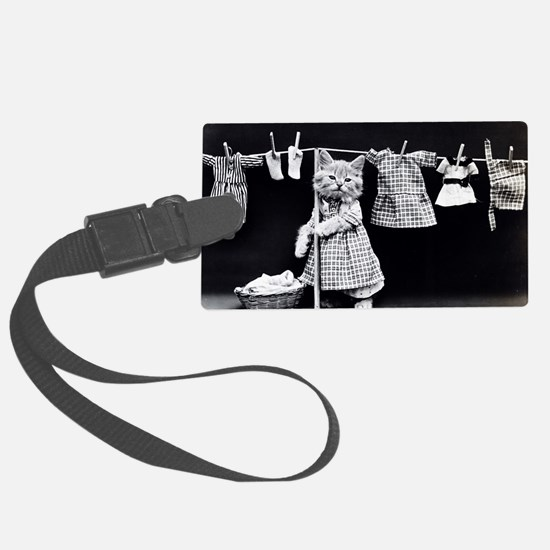 Cats At Work Luggage Tag