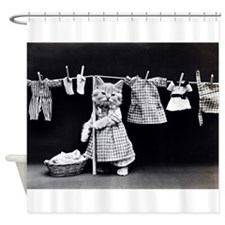 Cats At Work Shower Curtain