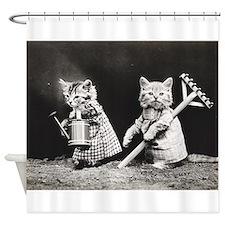 Kittens At Work Shower Curtain