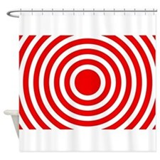 Red Bullseye Shower Curtain