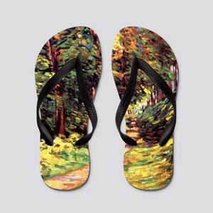 A Path in the Woods, an Armand Guillaum Flip Flops