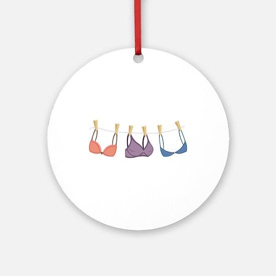 Bras On Line Ornament (Round)