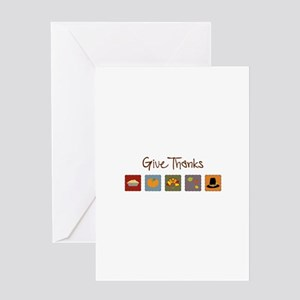 Give Thanks Greeting Cards