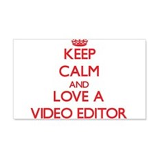 Keep Calm and Love a Video Editor Wall Decal